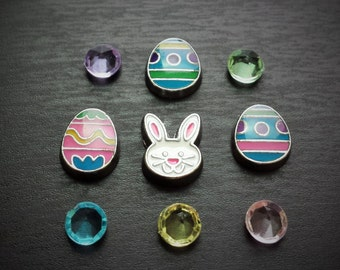 Easter Floating Charm Set for Floating Lockets-9 Pieces-Gift Ideas for Women