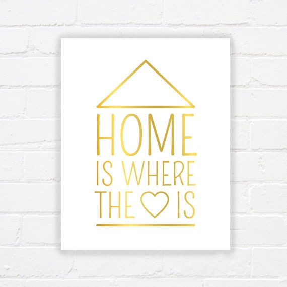 home is where the heart is printable quote art printable. Black Bedroom Furniture Sets. Home Design Ideas