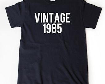 Vintage 1985 T-shirt Funny Birthday Gift Tee Retro