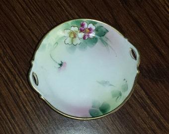 Vintage Nippon Handpainted Porcelain Set of 6 Tea Caddies with gilt edging
