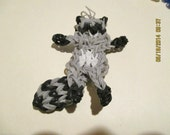 Rainbow Loom Raccoon Charm
