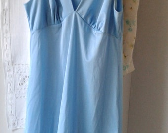 1970's / 80's French Vintage Lingerie, blue summer dress or nightie