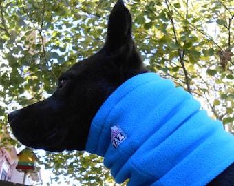 Dog neckwarmer, fleece neck gaiter, snood, muffler, tube scarf, cowl, scarfs, scarves
