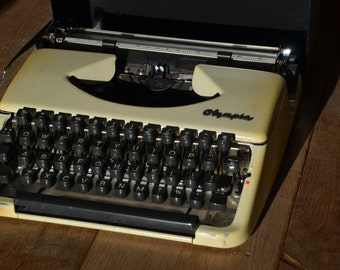 Working Portable Olympia Typewriter - Fully Serviced - Working Perfectly