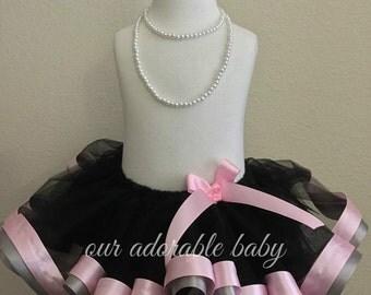 Formal  Baby Tutu | Toddler Tutu | Princess Baby Tutu | Pink Ribbon Tutu | Black Baby Tutu | Black Toddler Tutu