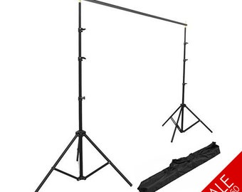 12x10 ft Backdrop Stand w/ Carry Bag for Studio Photography