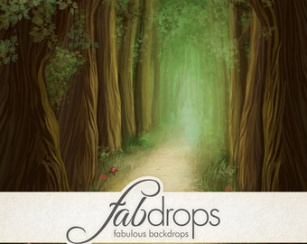 Enchanted Forest Photography Backdrop Scenic For Enchanted Fairy Photo Shoot PhotoDrop (FD5051)