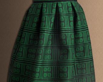 Ukrainian Women's skirt Modern fashionable women's skirt National Ukrainian clothing Green Red Beige.