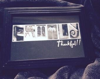 4x6 Black and White Family Photo Letter Art Print(unframed)