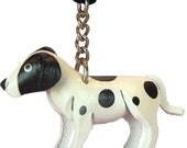 Black & White Spotted Dog - Mini Dogs Charms - Necklace Charm -  Chain, Small Toy - Gift For Children Girls Fashion Accessories Item 6373