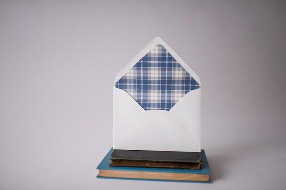 plaid lined envelopes (12 pattern options) - sets of 10