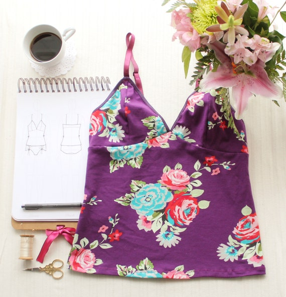 Clara Camisole Ohh Lulu 1315 Instant Download PDF Sewing Pattern