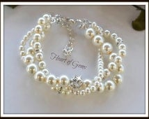 Pearl Bridal Twisted Bracelet