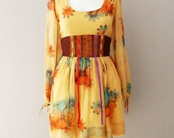 Young Edwardian - 1970s Mini - Folk Dress - NWOT