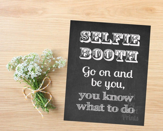 items similar to selfie booth sign wedding selfie booth sign wedding photo booth printable. Black Bedroom Furniture Sets. Home Design Ideas