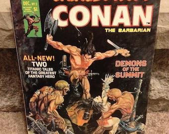 The Savage Sword Of Conan Magazine Demons Of The Summit No.3 December