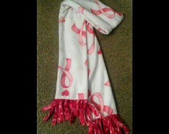 Pink Ribbon Breast Cancer Scarf