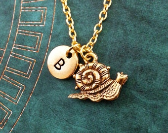 Snail Necklace, SMALL Snail Jewelry, Animal Necklace, Insect Jewelry, Personalized Necklace, Cute Snail Charm, Gold Snail Pendant Necklace