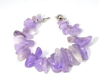 Amethyst bracelet  , Purple bracelet