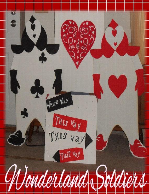 Alice In Wonderland Party Props Queen Of Hearts Wonderland