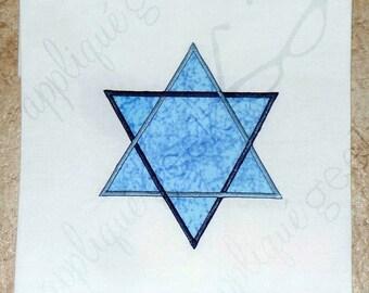 Star of David Applique Embroidery Design