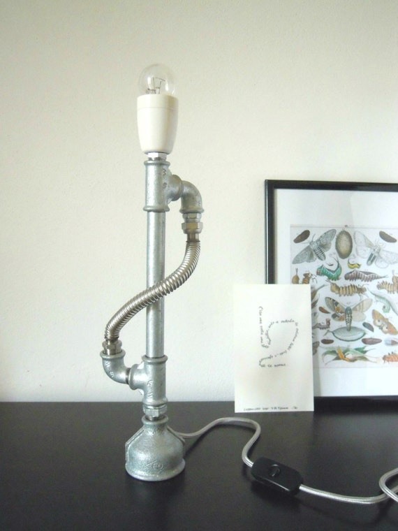 spesso Articoli simili a Lampada candelabro industriale con tubi  PO05