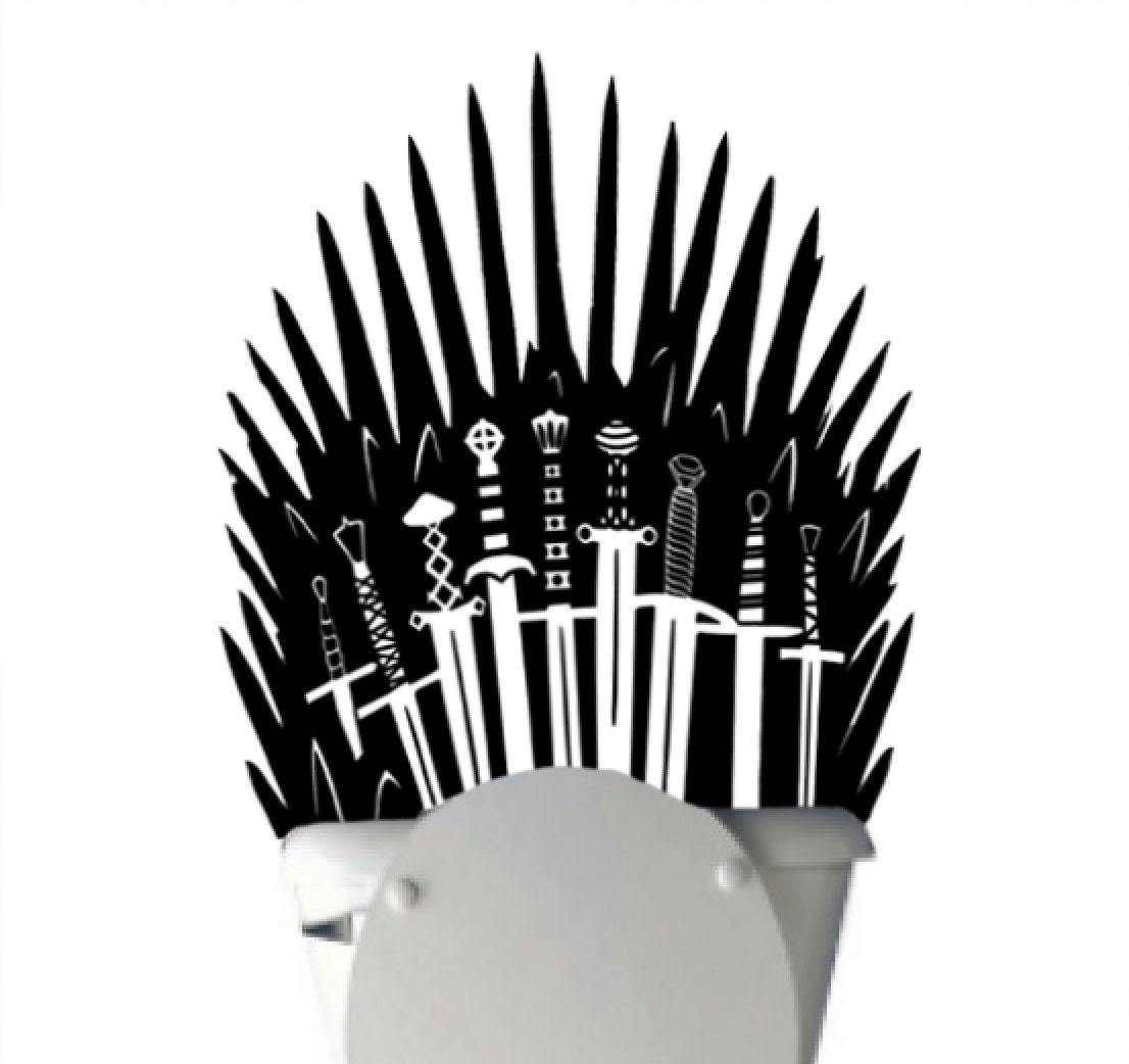 Iron Throne Toilet Decal Sticker Parody Inspired By Game Of