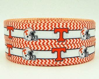 Tennessee 7/8 Inch Grosgrain Ribbon by the Yard for Hairbows, Scrapbooking, and More!!