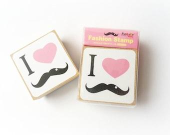 "Rubber stamp ""Moustache"""