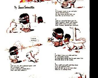 """Original Good Housekeeping cartoon """"Yoomee"""" by James Swinnerton 1930s, 8x11 in. - Kids237"""