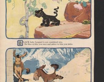 "Original Good Housekeeping cartoon ""Near-to-Nature Babies"" by James Swinnerton 1930s, 8x11 in. - Kids212"
