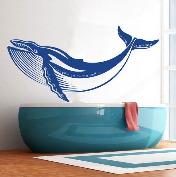 Whale Nursery Wall Decal Art Decor Sticker Vinyl Whale Art