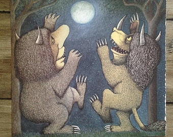 Where the Wild Things Are Bookplate | Vintage Artwork | Maurice Sendak | Where the Wild Things Are Print | Nursery Decor | Children's Book