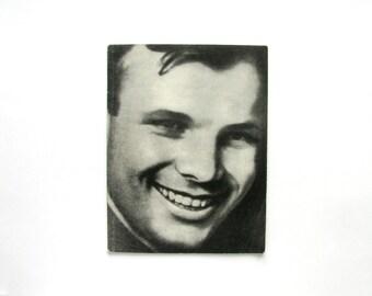 Book about Gagarin, First cosmonaut, Astronaut, Cosmos, Photo Album, Soviet Vintage Book, USSR, 1971