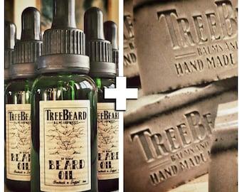 TreeBeard Beard Oil and Soap Combo