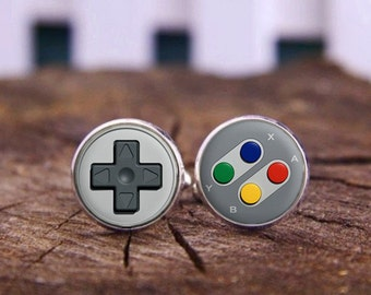 Game Console Button Cufflinks, Game Console, Console Button, Personalized Cufflinks, Wedding Cufflinks, Video Game Console, Groom Cufflinks