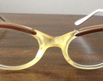 Vintage 1950s cat's eye glasses / frames, made by Liberty, size 5-1/2 - SALE!