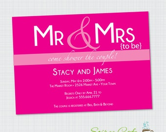 Mr. and Mrs. Bridal Shower Invitation {Digital File} Printable