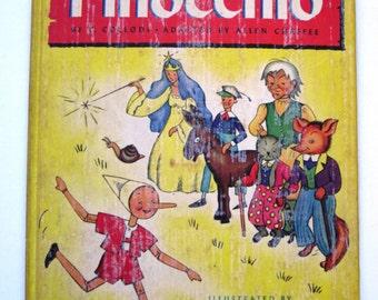 1946 Colorful & Rare Pinocchio Book - Illustrated by Lois Lenski!