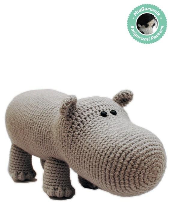 Amigurumi Hippopotamus : Crochet Pattern Hippo Amigurumi Pattern Amigurumi