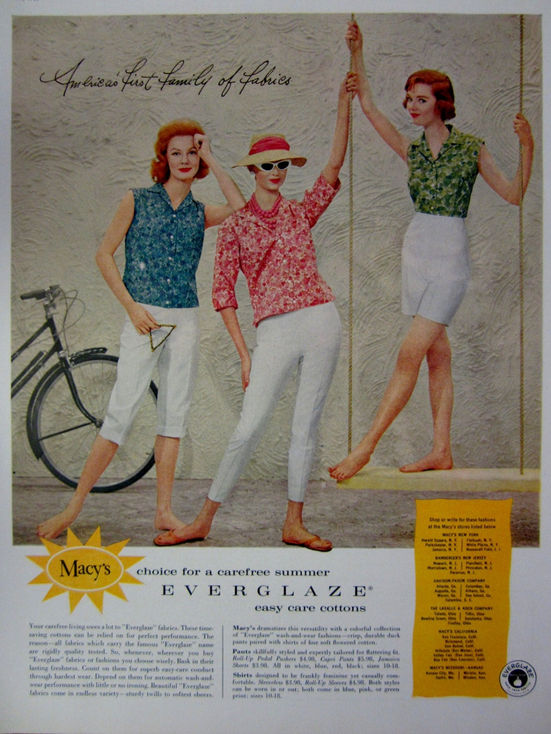 1959 Macys Vintage Advertisement Womens Fashion Wall Art