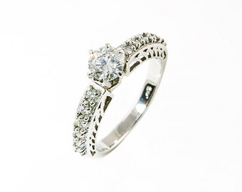 Stunningly beautiful .75 ct. diamond engagement ring