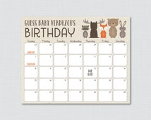 baby shower due date calendar birthday guess woodland baby shower