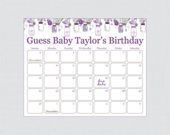 shower birthday pred ictions printable baby shower due date calendar