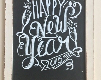 Personalized Kitchen Chalkboard Sign