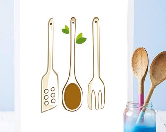 Cooking wooden fork  Etsy