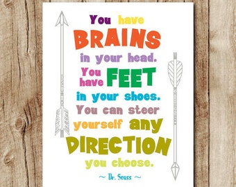 Dr Seuss Wall Decor printable quote dr seuss printable dr seuss quote print