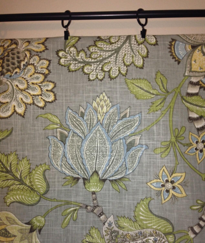 Octopus shower curtain cafe press - Valance Floral Valance Kaufmann Clarice Dove Curtain Valance Grey Floral Valance Curtains One