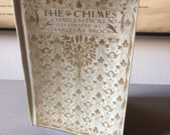 1911 The Chimes by Charles Dickens - Decorative Binding - Illustrated