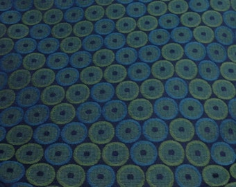 Modern Teal and Green Geometric Upholstery Fabric - Upholstery Fabric By The Yard